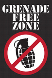Jersey Shore Grenade Free Zone TV Prints