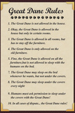 Great Dane House Rules Reprodukcje