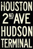 New York City Houston Hudson Vintage Retro Metro Subway Prints