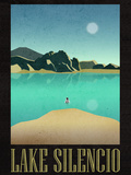 Lake Silencio Retro Travel Print