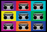 Boombox Stereos Pop Art Poster Posters