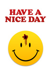 Have a Nice Day Smiley Face with Bullet Hole Print