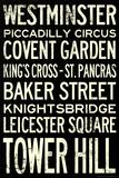 London Underground Vintage Stations Travel Plakater