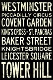 London Underground Vintage Stations Travel Posters