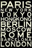 Cities of the World Retro Metro Travel Photo