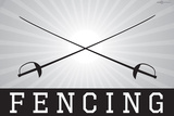 Fencing Sports Print