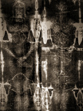 Shroud of Turin Full Image Plakat