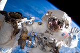 NASA Astronaut Spacewalk Space Earth Photo Pósters