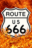 Route 666 Highway to Hell Kunstdruck