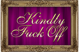 Kindly F*ck Off Purple Faux Frame Photo