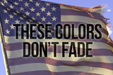 These Colors Dont Fade American Flag Poster