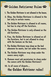 Golden Retreiver House Rules Prints