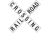 Railroad Crossing Crossbuck Traffic Poster