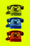 Vintage Rotary Telephone Pop Posters
