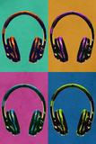 Headphones Vintage Style Pop Art Posters