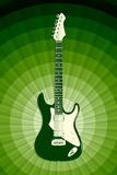 Electric Guitar Green Music Print