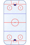 Hockey Rink Layout Sports Posters