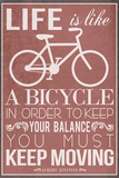 Life Is Like a Bicycle Poster