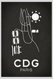 CDG Paris Airport Prints