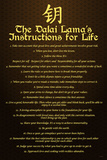 Dalai Lama, Instructions For Life Posters