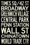 New York City Subway Style Vintage Retro Metro Travel Plakat