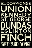 Toronto Metro Stations Vintage Travel Retro Metro Prints