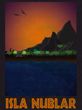 Isla Nublar Retro Travel Prints