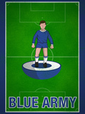 Blue Army Football Soccer Sports Prints