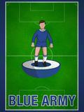 Blue Army Football Soccer Sports Prints