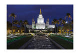 Morman Temple, Oakland, CA 3 (Iconic Buildings Christman Season) Photographic Print by Henri Silberman