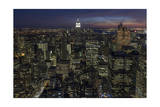 Empire State Building and New York, Top View (City at Night) Photographic Print by Henri Silberman