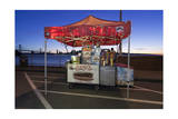 Hot Dog Stand on Treasure Island (Oakland Bay Bridge, San Francisco Bay, Christmas) Photographic Print by Henri Silberman