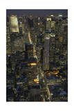 New York City, Top View 8 (Looking Up Fifth Avenue, Night) Photographic Print by Henri Silberman