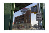 Under the Gowanus Expressway, Brooklyn, Ny (Urban Street with Memorial and Signs) Photographic Print by Henri Silberman