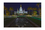 Morman Temple, Oakland, CA 6 (Iconic Buildings Christman Season) Photographic Print by Henri Silberman