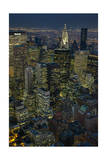 New York City, Top View with Chrysler Building (Night) Photographic Print by Henri Silberman