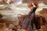 Miranda the Tempest Print by John William Waterhouse