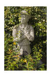 Garden Statue Wwi Soldier, Front View (English Garden Scene with Ivy) Photographic Print by Henri Silberman