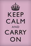 Keep Calm and Carry On, Lilac Posters