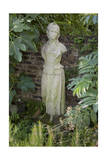 Garden Statue Female (English Garden Scene with Fig Leaves) Photographic Print by Henri Silberman