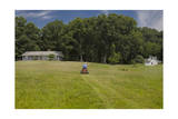 Rural House with Riding Mower (North Carolina Landscape) Photographic Print by Henri Silberman