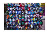 Mexican Wrestling Masks 1 (Store Display in the Mission, San Francisco, CA) Photographic Print by Henri Silberman