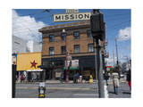 The Mission, San Francisco, CA Street Scene (Storefronts, Street Signs) Photographic Print by Henri Silberman