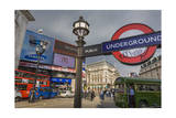 London Street Scene (City View with Traffic and Underground Sign) Photographic Print by Henri Silberman