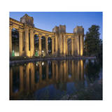 Palace of Fine Arts, San Francisco, CA (Architectural Detail, Columns, Reflections) Photographic Print by Henri Silberman