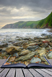 Creative Concept Image of Seascape Landscape Coming out of Pages in Magical Book Photographic Print by  Veneratio