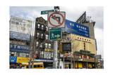 Storefronts and Signs, Chinatown, New York City (Urban Street, the Bowery) Photographic Print by Henri Silberman