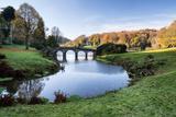Bridge over Main Lake Landscape during Autumn. Photographic Print by  Veneratio