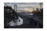 Bay Bridge from Treasure Island (Sunset on San Francisco Bay) Photographic Print by Henri Silberman