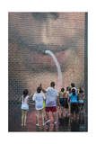 Children at Millenium Park Fountain (Chicago Summer) Photographic Print by Henri Silberman